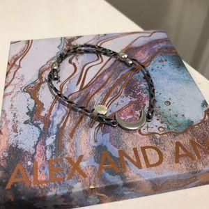 Alex and ani threaded moon bracelet